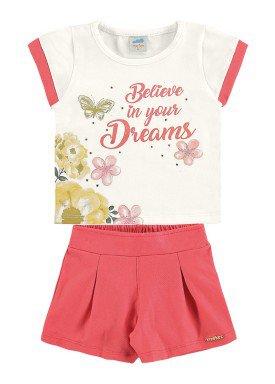 conjunto blusa e short bebe feminino dreams offwhite marlan 60388