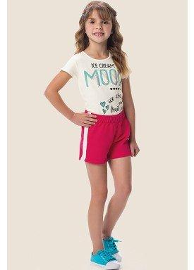 conjunto blusa e short infantil feminino ice cream offwhite marlan 64640 1