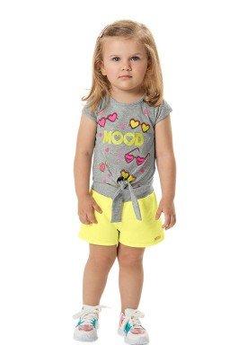 conjunto blusa e short infantil feminino mood mescla marlan 42482 1