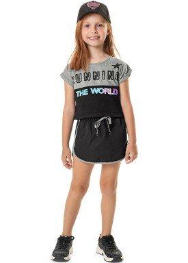 conjunto blusa e short saia infantil feminino running mescla marlan 44763 1
