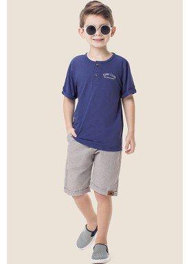 conjunto camiseta bermuda infantil masculino surf club azul marlan 64594 1