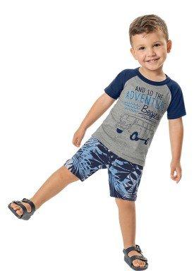 conjunto camiseta e bermuda infantil masculino adventure mescla marlan 42497 1