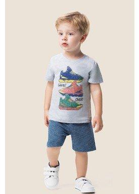 conjunto camiseta e bermuda infantil masculino shoes mescla marlan 62492 1