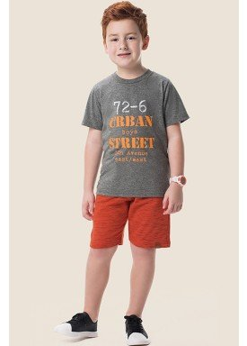 conjunto camiseta e bermuda infantil masculino urban mescla marlan 64618 1