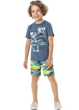 conjunto camiseta e bermuda infantil masculino urban sport azul marlan 44791 1