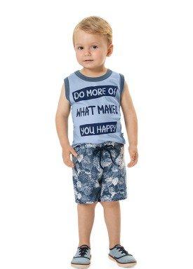 conjunto regata e bermuda infantil masculino happy azul marlan 42495 1