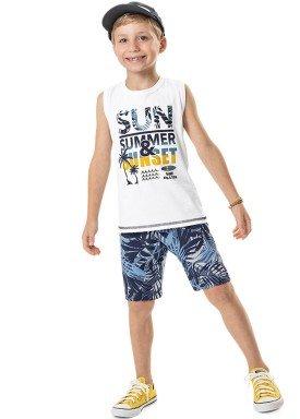 conjunto regata e bermuda infantil masculino sunset branco marlan 44781 1