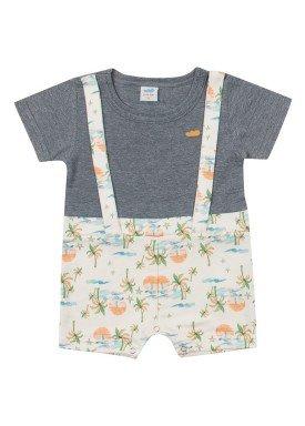 macacao curto meia malha bebe masculino beach mescla marlan 60416 1
