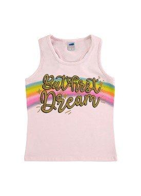 regata cotton infantil feminina dream rosa marlan 64570