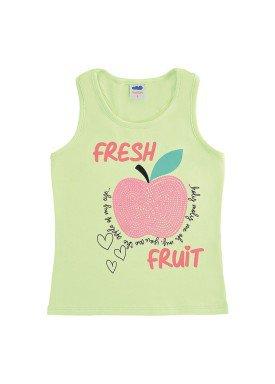 regata cotton infantil feminina fresh fruit verde marlan 64570