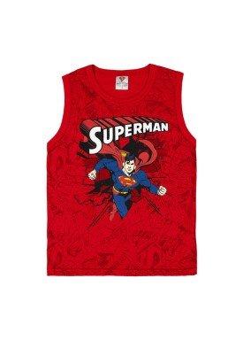 regata meia malha infantil masculina superman vermelho marlan s4093