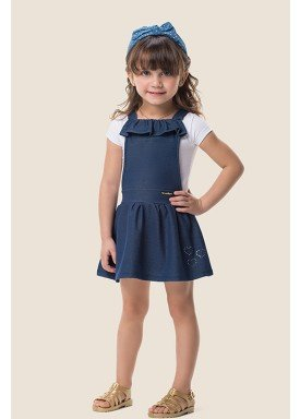 salopete molecotton jeans infantil feminino marinho marlan 62477 1