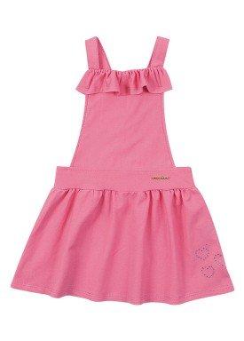 salopete molecotton jeans infantil feminino rosa marlan 62477 1