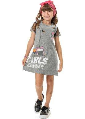 vestido cotton e tule infantil feminino summer mescla marlan 44761 1