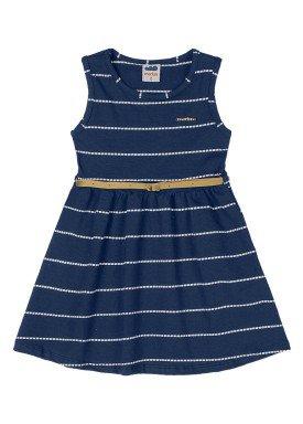 vestido cotton navy infantil feminino marinho marlan 42476