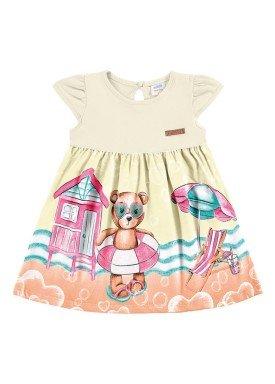 vestido meia malha bebe feminino praia marfim marlan 60395