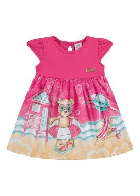 vestido meia malha bebe feminino praia rosa marlan 60395