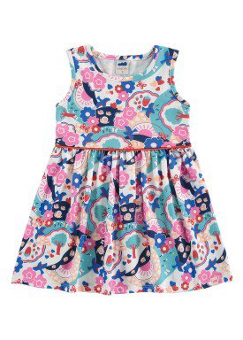 vestido meia malha infantil feminino natureza branco marlan 62461