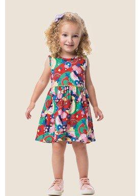 vestido meia malha infantil feminino natureza vermelho marlan 62461 1