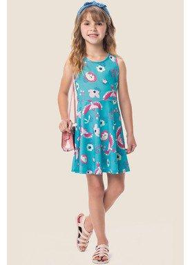 vestido meia malha infantil feminino passaros azul marlan 64574 1