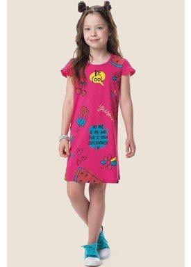 vestido meia malha infantil feminino sorvete rosa marlan 64569 1
