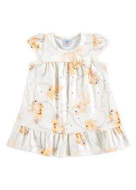 vestido new versalhes bebe feminino peixes marfim marlan 60389