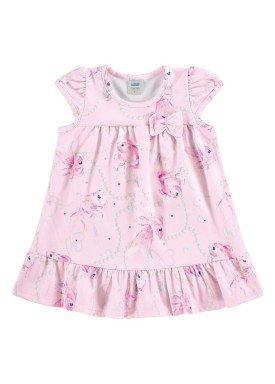 vestido new versalhes bebe feminino peixes rosa marlan 60389