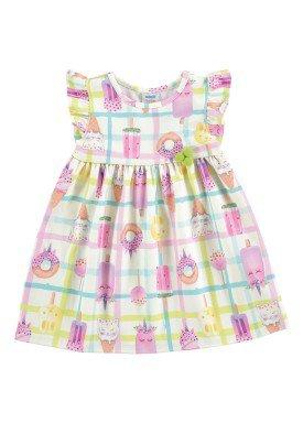 vestido ponto roma bebe feminino picoles marfim marlan 60381