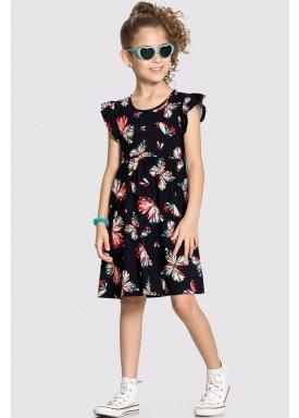 vestido meia malha infantil feminino borboletas preto alakazoo 11357 1