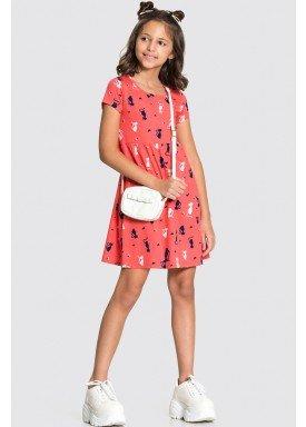 vestido meia malha infantil feminino cats salmao alakazoo 11217 1