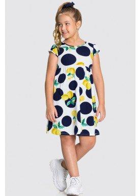 vestido meia malha infantil feminino lemons branco alakazoo 16026 1