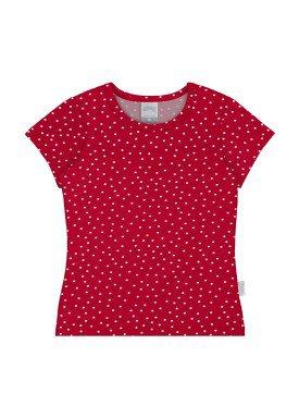 blusa cotton infantil juvenil feminino bolinhas vermelho alakazoo 31582