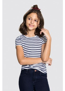 blusa cotton infantil juvenil feminino listrada marinho alakazoo 31582 1