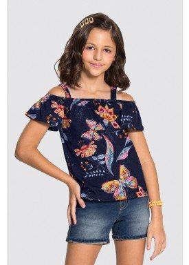 blusa meia malha infantil feminina butterflies marinho alakazoo 31722 1