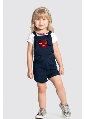 conjunto macaquinho e blusa infantil feminino heart branco alakazoo 31784 1
