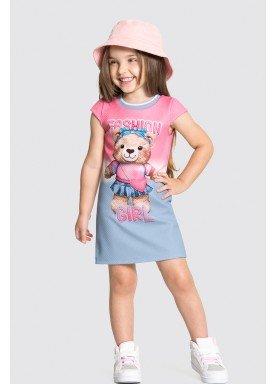 vestido malha favo infantil feminino fashion rosa alakazoo 31795 1