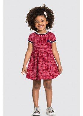 vestido malha nikko infantil feminino flores vermelho alakazoo 31788 1