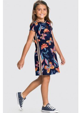 vestido meia malha infantil feminino butterflies marinho alakazoo 31742 1