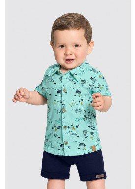 camisa meia malha bebe masculina piratas verde alakazoo 33103 1