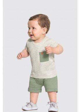 conjunto camiseta e bermuda bebe masculino mescla alakazoo 33112 1