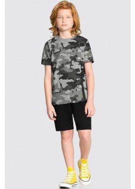 conjunto camiseta e bermuda infantil juvenil masculino camuflado mescla alakazoo 34015 1