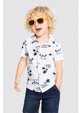 camisa meia malha infantil masculina tropical branco alakazoo 34673 1