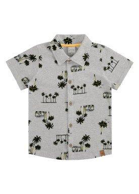 camisa meia malha infantil masculina tropical mescla alakazoo 34673