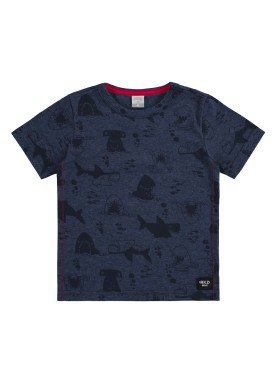 camiseta malha view flex infantil masculina sharks marinho alakazoo 34671