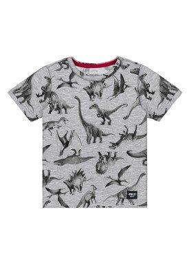 camiseta meia malha infantil masculina dinossauros mescla alakazoo 34667