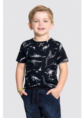 camiseta meia malha infantil masculina dinossauros preto alakazoo 34667 1