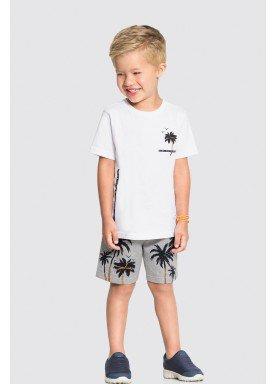 conjunto camiseta e bermuda infantil masculino good vibes branco alakazoo 34678 1