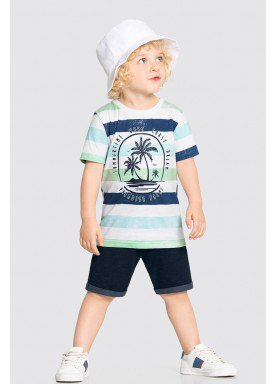 conjunto camiseta e bermuda infantil masculino summertime marinho alakazoo 34685 1