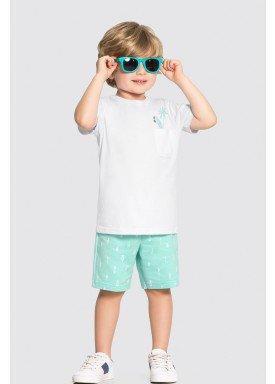 conjunto camiseta e bermuda infantil masculino surf branco alakazoo 34686 1