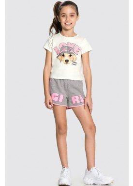 conjunto blusa e short infantil feminino love offwhite alakazoo 34990 1